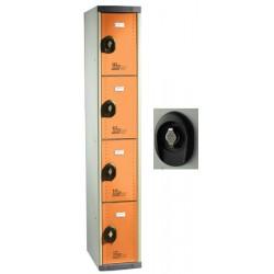 Vestiaires multicasiers à monter 4 portes avec moraillon H180xP50xL30 cm
