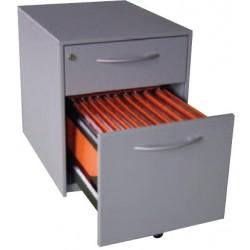 Caisson mobile 2 tiroirs dont 1 dossiers suspendus