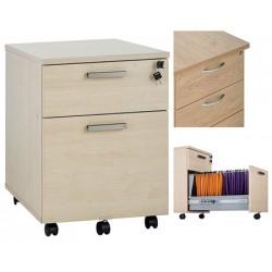 Caisson mobile Office 2 tiroirs sont 1 ds L43xP60xH56 cm