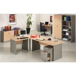 Bureau Stratus finition hêtre et aluminium L80xp80 cm