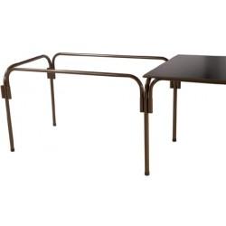 Lot de 10 tables rallongeables et modulables métal galvanisé 120x80 cm