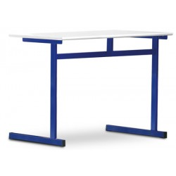 Tables scolaires Margot stratifié alaise bois 130x50 cm T4 à T7