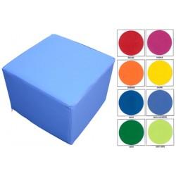 Pouf carré 30x30 assise H25 cm