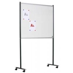 Panneau d'affichage double face émail blanc sur pieds mobiles 15 A4