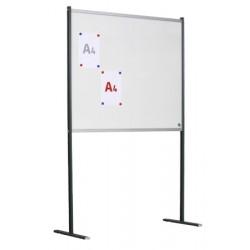 Panneau d'affichage double face émail blanc sur pieds fixes 15 A4