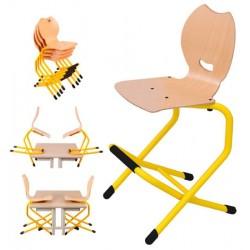 Chaise empilable double appui sur table surelevee Lise