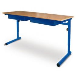 Table à dégagement latéral Alice fixe mélaminé 130x50 cm T4 à T7