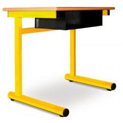 Table à dégagement latéral Alice fixe mélaminé 70x50 cm T4 à T7