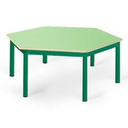 Table maternelle Elise stratifié pieds métal octogonale 120 cm TC à T3