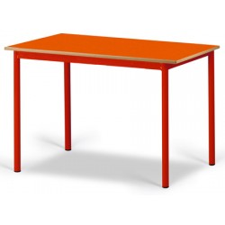 Table maternelle Elise stratifié pieds métal 200x80 cm TC à T3