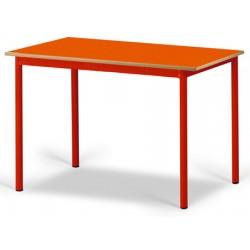 Table maternelle Elise stratifié pieds métal 120x80 cm TC à T3