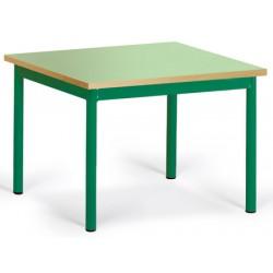 Table maternelle Elise stratifié pieds métal 60x50 cm TC à T3