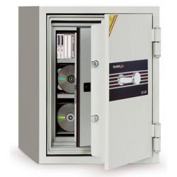 Coffre ignifugé 27L à clé pour supports sensibles H69,5xL50xP50 cm