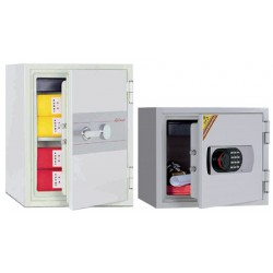 Coffre ignifugé 19L à clé pour supports papier H35,2xL41,2xP36,3 cm