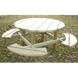 bois en de pique nique Tables SjL54qc3RA