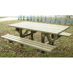 Table de pique-nique bois Bangui L200 cm