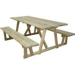 Table de pique-nique bois Andorre L200 cm