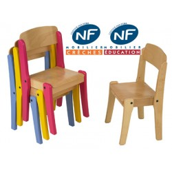 Chaise bois NF Pioupiou empilable T2