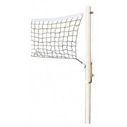 Paire de poteaux de volley à sceller avec filet