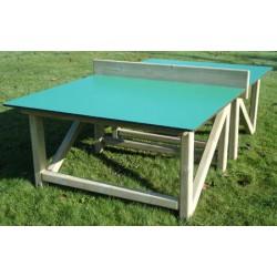 Table de ping pong extérieure bois et compact