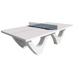 Table de ping pong béton design plateau brut