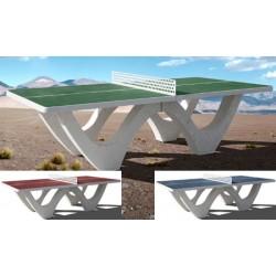 Table de ping pong béton design