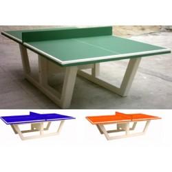 Table de ping pong en béton verte ou bleu