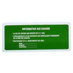 Panneau aire de jeux simple avec texte L70xH30 cm