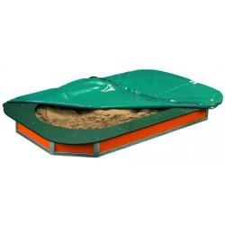 Bac à sable avec bache L234xP148xH21,5 cm