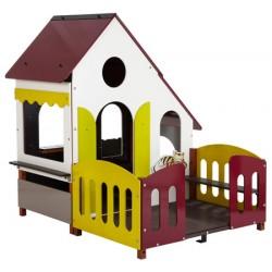 Maisonnette chalet avec terrasse L162xP178xH175 cm