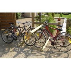 Rack à vélos bois 6 places