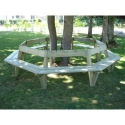 Banc tour d'arbre octo rayon intérieur 150 cm