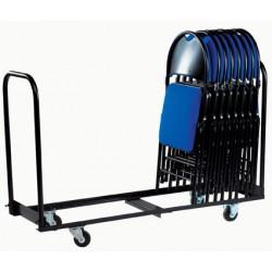 Chariot de stockage pour 24 chaises pliantes