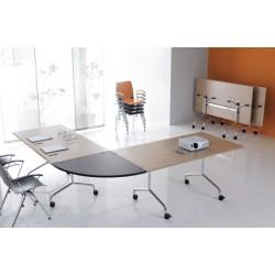 Table mobile et rabattable Oxygène 150x70 cm structure chromée