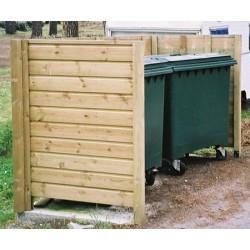 Abri conteneur : panneau ajouré arrière en clin de bardage L 140 cm