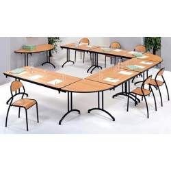 Table pliante Omega stratifiée ép. 21mm chant PVC 1/2 ronde ø 160 cm