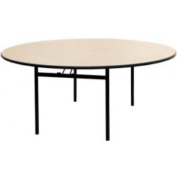 Table pliante 4 pieds Gamma ø 150 mélaminé 22 mm chanc antichoc