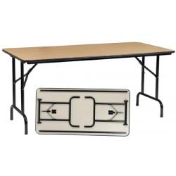 Table pliante Alpha 180x80 mélaminé 22 mm chant antichoc