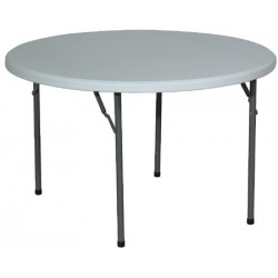 Table pliante polyéthylène Qualiplus diam 122 cm