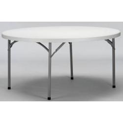 Table pliante polyéthylène Qualiplus diam 152 cm