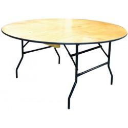 Table pliante plateau bois multi services diam. 152 cm