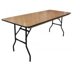 Table pliante plateau bois multi services 200x76 cm