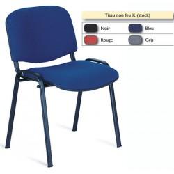Chaise empilable tissu non feu Emmanuelle
