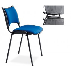 Chaise empilable et accrochable Nolwenn tissu king non feu M1