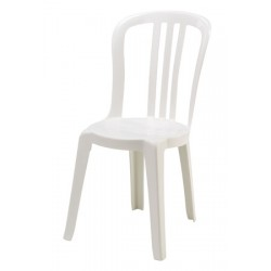 Lot de 14 chaises bistrot blanches empilables
