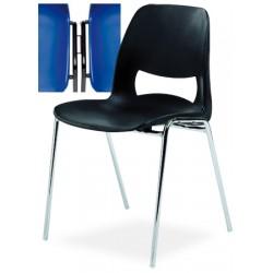 Chaise coque empilable et accochable Elisa M4