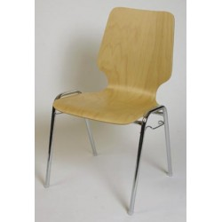 Chaise coque bois empilable Hortense