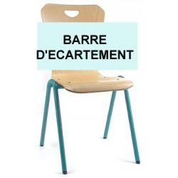 Barre d'ecartement chaise coque bois 4 pieds