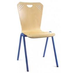 Chaise coque bois Soni 4 pieds