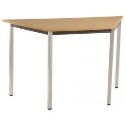 Table de réunion modulable trapèze 120x60 cm pieds carrés